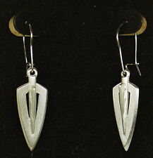 Pewter Broadhead Dangle Earrings by Empire Pewter