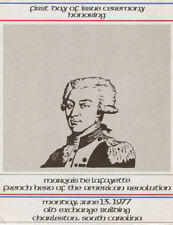 #1716 First Day Ceremony Program 13c Lafayette- Charleston, SC Stamp w/FDC
