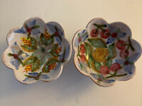 Fait Main French Pottery 2 Bowls Hand Made Hand Painted France