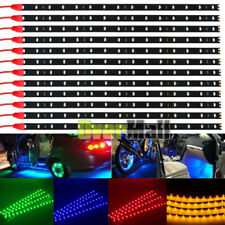 "6-12Pack DC 12V Waterproof 1Ft 15LED Strip Underbody Light with 6"" wires 4 motor"