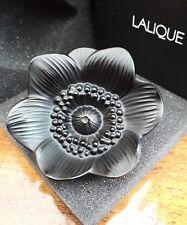 LALIQUE anemone BLACK 10519700, Black Flower. & Nuovo di zecca in scatola!!!