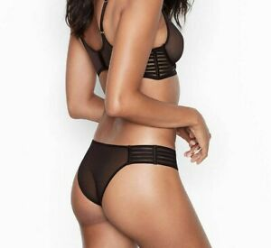Victorias Secret BANDED Sheer Mesh CHEEKY Cheekini Panty SEXY Luxe Bikini NWT VS