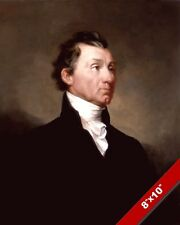 JAMES MONROE US PRESIDENT PORTRAIT HISTORY PAINTING ART REAL CANVAS PRINT