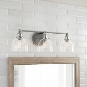 Home Decorators Collection Evelyn 3-Light Brushed Nickel Vanity Light