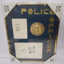 VTG POLICE OFFICER 11 x 14 Photo Frame w/ Traditional Brass Medallion NEW SEALED