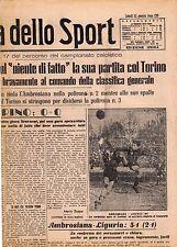 LA GAZZETTA DELLO SPORT DEL LUNEDI'  25  GENNAIO  1943    NR 21