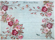 Rice paper -Roses on light blue background- for Decoupage Scrapbooking Sheet