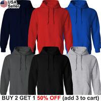 Hooded Plain Sweatshirt Sweater Shirt Blank Solid Pullover Cotton Fleece Hoodie