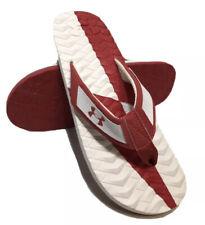 Under Armour Marathon KeyIII Flip Flop Red/White Sz US11 FREE SHIPPING BRAND NEW