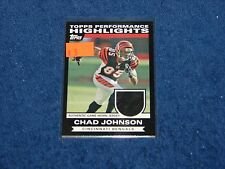 CHAD JOHNSON BENGALS OREGON STATE ALOUETTES 2007 TOPPS PERFORMANCE HL JERSEY