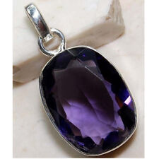 Graceful Jewelry Women Lady 925 Silver Pendant Necklace Amethyst Sapphire Charms