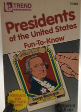 Presidents of the United States Fun-To-Know Flash Cards 1992 by Trend T-1662