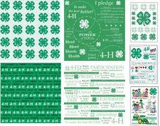 """4-H Scrapbook Papers 12x12"""" and Scrapbook Stickers U-CHOOSE 4H Scrapbook"""