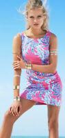 Lilly Pulitzer CATHY SHIFT DRESS Capri Pink Samba Coral Size 2 EUC