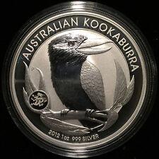 *2012 Australia 1 oz Silver 999 Kookaburra BU (Dragon Privy Mark) Mintage 65k*