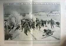 1915 Russian Invasion Of Hungary Across Uzsok Pass, F Matania Artwork