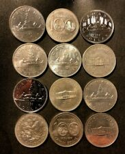 Old Canada Coin Lot - DOLLAR - 12 AU/UNC COINS  - Lot #M25