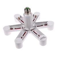 1 to 7 E27 Energy Saving LED Light Lamp Bulb Base Socket Splitter Holder Adapter