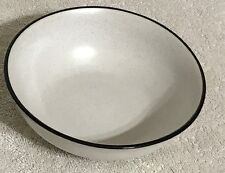Tina by Noritake Folkstone Stoneware Coupe Cereal Bowl Discontinued Gray Black