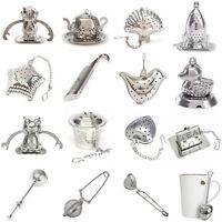 1Pcs Pince à Thé Inox Boule Passoire Passe Infuseur Filtre Tea Cuillère Infuser