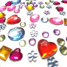 312 Self Adhesive Acrylic Gemstones Various colours & Shapes Cheapest on Ebay