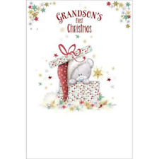 Me to You Tatty Teddy Festive Grandson First Christmas Card XSM92003