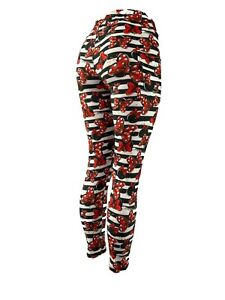 Minnie Mouse Bows Black & White Leggings With POCKETS!! OS Curvy Diva Kids
