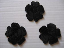 34 PCS,HEAVY BLACK FLORAL RAYON VENISE LACE APPLIQUE