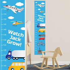 Personalised Height Growth Chart Planes Trucks Cars  Fun Boys Gift Idea for Kids