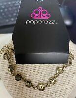 Paparazzi Jewelry Bracelet ~Tiny Heartbeats - Brass~6285