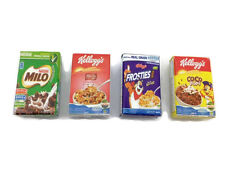 Lot 4 Mix Cereals Box Milo,Corn Flake PLASTIC 3D FRIDGE MAGNET SOUVENIR TOURIST