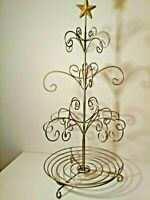 VINTAGE METAL TREE ☆ OVER 2 FT. TALL !☆GOLD TONED ☆ RETRO HOME DECOR ☆ SCULPTURE