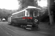 PHOTO  1961 MER STATION LAXEY TRAM NO 1 AND TRAILER STAND READY TO DEPART FOR RA