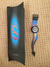POP Swatch PMB103 Hot Stuff Collectible Watch BRAND NEW with Collector's Box