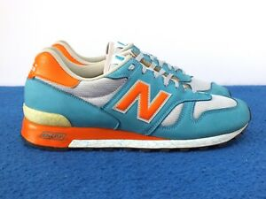 2008 New Balance 1300 TOW Men's Running Shoes Blue/Orange England Sz 10.5D US