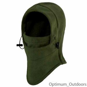 Olive Green Fleece Balaclava Hat Veil Airsoft Hunting Hood Winter Thermal Army