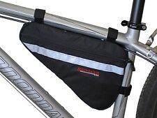 Bushwhacker Gallup Black Bicycle Frame Bag Cycling Pack Seat Top Tube Bike Wedge