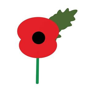 REMEMBRANCE DAY - POPPY WITH STEM - IRON ON TSHIRT TRANSFERS - A6 A5 A4