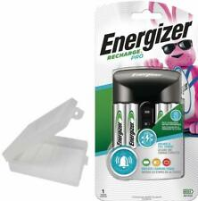 Energizer Recharge Pro AA and AAA Charger Includes 4 AA Batteries with AA Case