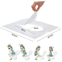 100Pcs Toilet Seat Paper Cover Travel Disposable Portable Sanitary Biodegradable