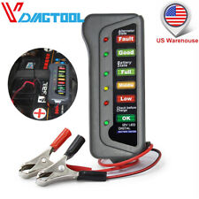 12V Car Vehicle Digital Battery Load Tester 6 LEDs Alternator Battery Analyzer