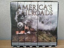 America's Railroads The Steam Train Legacy 7 VHS Set