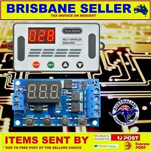 DELAY TIMER RELAY 5V 12V 24V DC SWITCH SECONDS MINUTES AND HOURS