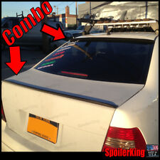 (284R / 244L) VW Jetta IV 1999-05 4dr Rear Trunk Lip Wing and Roof Spoiler MK4