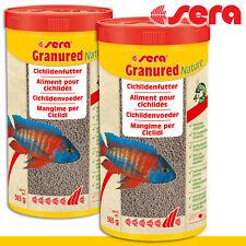 Sera 2x 1000 ML Granured Natürlich Granulated Feed Aquarium Fish Growth Guppy