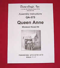 Dura-Craft *QUEEN ANNE* QA-575 Dollhouse Instructions *OFFERING DIGITAL DELIVERY