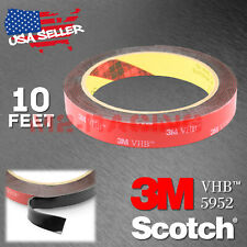 Genuine 3M VHB #5952 Double-Sided Mounting Foam Tape Automotive Car 15mm x 10FT