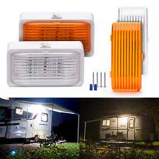 MICTUNING 12V LED RV Car Porch Utility Light On/Off Switch White/Amber,2  Pack