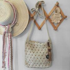 SAK Crochet Macrame Beaded Bag