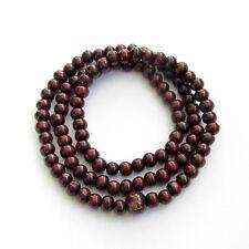108 Tibetan Buddhist Wood Prayer Beads Bracelet Mala Hanging Accessory Necklace